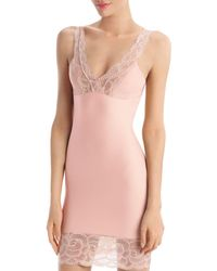 Commando Sexy And Smooth Lace Trim Slip - Pink