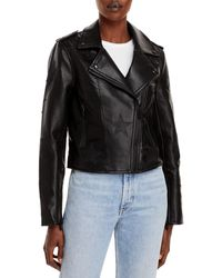 Blank NYC Star Faux Leather Moto Jacket - Black
