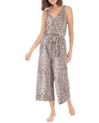 B Collection By Bobeau Jordyn Ribbed Knit Jumpsuit - Brown