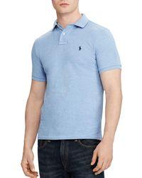 1a11329ed Polo Ralph Lauren - Ralph Lauren Custom Slim Fit Mesh Polo Shirt - Lyst