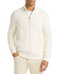 Vince Full Zip Sweater - White
