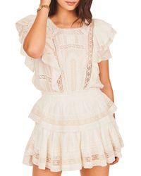 LoveShackFancy Stella Mini Dress - White