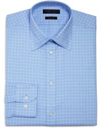 Bloomingdale's - Micro Windowpane Regular Fit Dress Shirt - Lyst