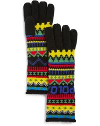 Polo Ralph Lauren Fair Isle Logo Gloves - Black