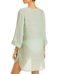 J Valdi Lace Up Cover Up Mini Dress - Green