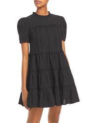 Aqua - Clip Dot Dress - Lyst