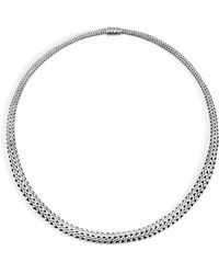 """John Hardy - Sterling Silver Classic Chain Graduated Chain Necklace, 18"""" - Lyst"""