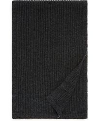Bloomingdale's Ribbed Cashmere Scarf - Black