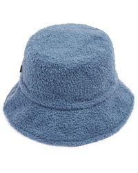 Echo Reversible Faux Fur Bucket Hat - Blue