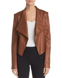 Theory Draped Leather Jacket - Brown