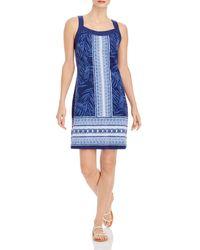 Tommy Bahama Kona Floral Stripe Dress - Blue