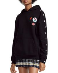 Maje - Theodore Patched Snap-sleeve Hoodie - Lyst