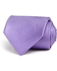 Bloomingdale's Tonal Micro Pattern Wide Tie - Purple