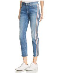 7 For All Mankind - Roxanne Side-stripe Skinny Jeans In Vintage Blue Dunes - Lyst