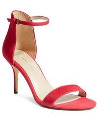 09c879f8e1d6 Karen Millen - Women s Heeled Strappy Open Toe Leather High-heel Sandals -  Lyst