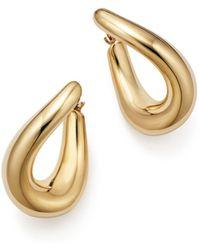 Bloomingdale's 14k Yellow Gold Medium Oval Twist Hoop Earrings - Metallic