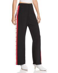 Bardot Colorblock Sporty High-rise Snap Pants - Black