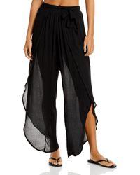 Aqua Swim Petal Beach Swim Cover - Up Pants - Black