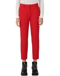 Maje Parmin Straight - Leg Pants - Red