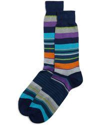 Bloomingdale's - Multi-stripe Socks - Lyst