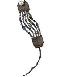 Chan Luu Sterling Silver & Leather Multi - Strand Bracelet - Multicolour