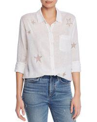 Rails - Charli Embroidered Shirt - Lyst