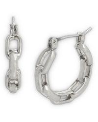 AllSaints Hammered Link Hoop Earrings - Metallic