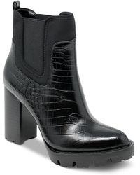 Charles David Grady Platform Booties - Black