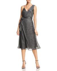Keepsake Now And Then Asymmetric Metallic Dress - Black