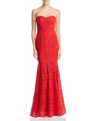 Decode 1.8 - Strapless Lace Gown - Lyst