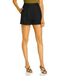 Aqua Lace Trim Shorts - Black