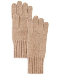 C By Bloomingdale's Cashmere Gloves - Natural