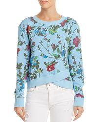 Pam & Gela - Floral Print Crossover Sweatshirt - Lyst