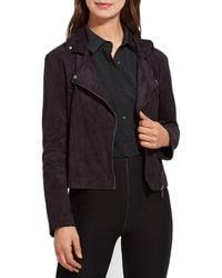 Lysse Womens Black Faux-Leather Studded Crop Moto Coat Jacket XS BHFO 4689
