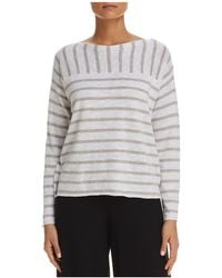 Eileen Fisher - Mixed Stripe Top - Lyst