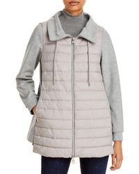 Herno Mixed Media Puffer Coat - Grey