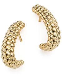 Bloomingdale's 14k Yellow Gold Beaded J - Drop Earrings - Metallic
