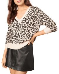 Cupcakes And Cashmere Monroe Animal Print Sweater - Pink