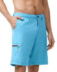 Tommy Bahama Cayman Isles Hybrid Cargo Board Shorts - Blue