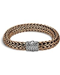 John Hardy - Men's Classic Chain Silver And Bronze Large Chain Bracelet - Lyst