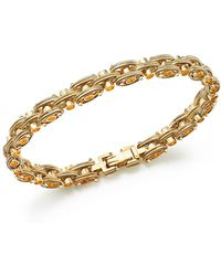 Bloomingdale's - Textured Link Bracelet In 14k Yellow Gold - Lyst