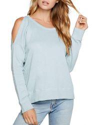 Chaser Cold - Shoulder Sweatshirt - Blue