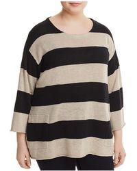 Eileen Fisher - Organic Linen Awning-stripe Jumper - Lyst
