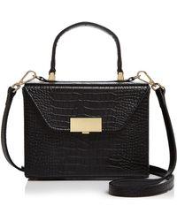 Aqua - Medium Croc-embossed Box Bag Satchel - Lyst