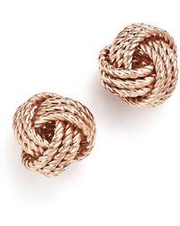 Bloomingdale's 14k Rose Gold Love Knot Earrings - Pink
