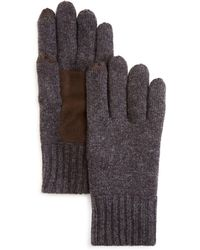 Bloomingdale's Suede Patch Tech Gloves - Grey