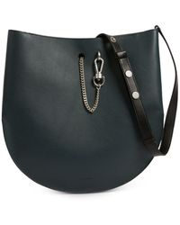 AllSaints Beaumont Small Leather Hobo - Green