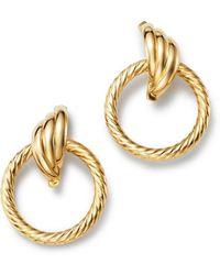 Bloomingdale's - Circle Swirl Earrings In 14k Yellow Gold - Lyst