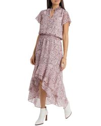 1.STATE High/low Flounce Dress - Multicolor