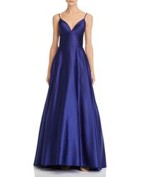Betsy & Adam Satin Ball Gown - Blue